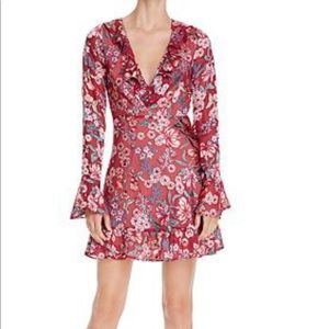 FOR LOVE & LEMONS L Gracie Mini Dress Berry floral